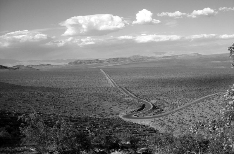 I love lonely desert roads.<br> <br> (Part of the Old Spanish Trail)<br> <br> Taken 6/9/09