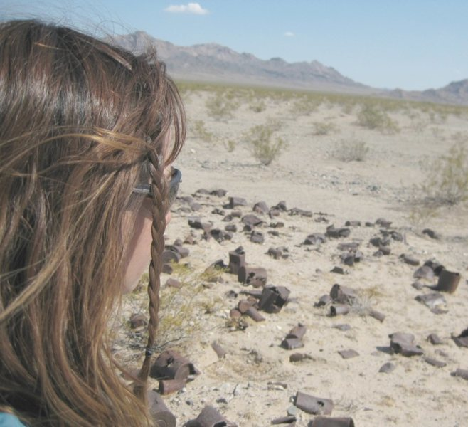 In search of old railroad locks, and keys in the hot desert along the abandoned Tonopah, and Tidewater Railroad. : )<br> <br> Taken 6/9/09