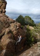 Rock Climbing Photo: Bouldering at Turtle Rocks. Photo by Tara Reed