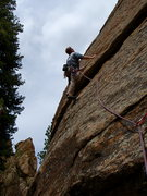 Rock Climbing Photo: Thunder Toad. The Alien is in the background. Phot...
