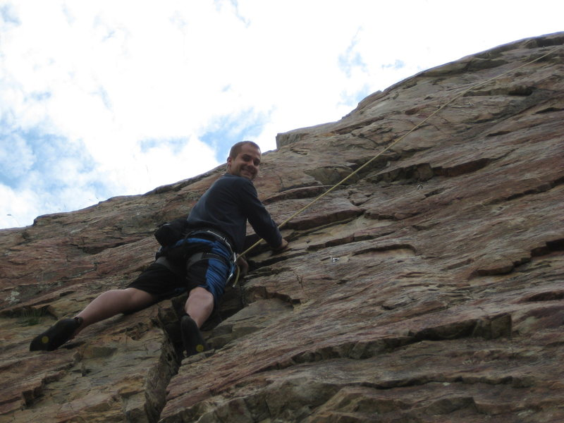 Rock Climbing Photo: Me on Red Slab just taking a break.