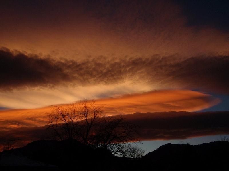 Boulder sunset.