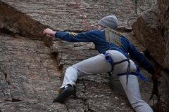 Rock Climbing Photo: Hannah having fun