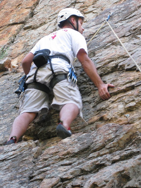 Just doing a little lead climbing