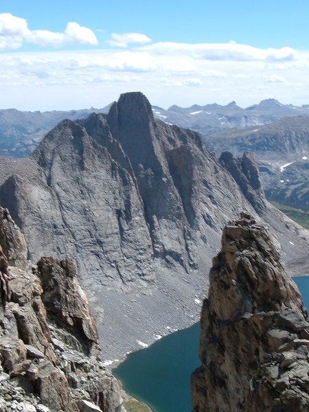 Rock Climbing Photo: Musembeah from Mt. Lander, showing West Buttress.