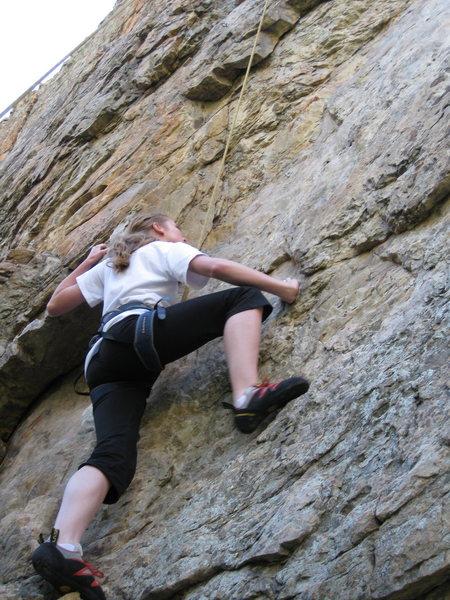 Rock Climbing Photo: Hannah, What a stud