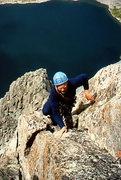 Rock Climbing Photo: Eric Draper at the beginning of the upper arete.