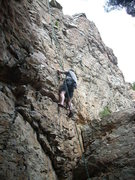 Rock Climbing Photo: first timmer top rope  route is clean from strong ...