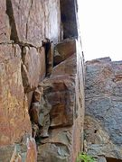 Rock Climbing Photo: This lower section got me PUMPED. wah