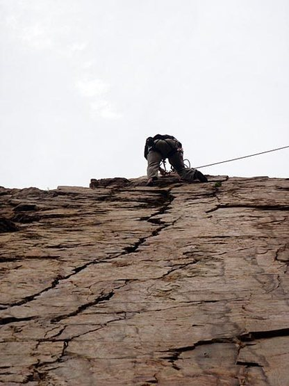 Rock Climbing Photo: JB bringing the rope over to Goodro's from Six App...