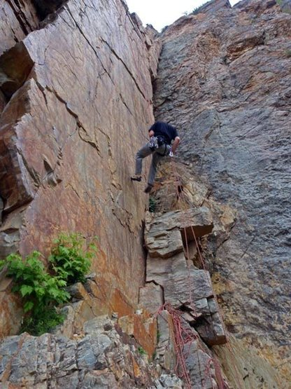 Rock Climbing Photo: rappelling down Goodro's