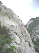 Rock Climbing Photo: Gene on the arete