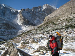 Rock Climbing Photo: Headin up into Chasm Lake area for some thing........
