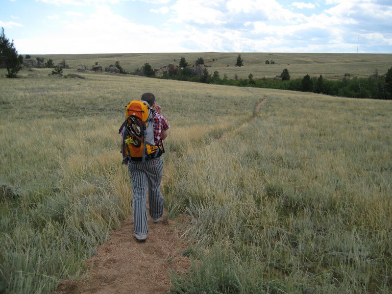 Hiking out of Poland hill in Vedauwoo
