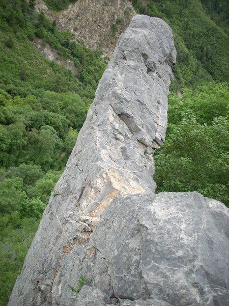 Rock Climbing Photo: Fin like wall