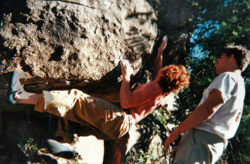 "Rock Climbing Photo: Luke Childers making the F.A. of ""Thrust Firs..."