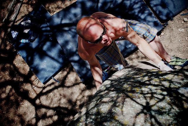 "Rock Climbing Photo: Wiley Evans working the classic ""Elephant Tru..."