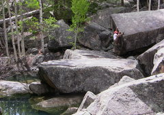 Rock Climbing Photo: Some of the stellar bouldering on the Weller appro...