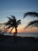 Rock Climbing Photo: A classic sunset shot on Cayman Brac.
