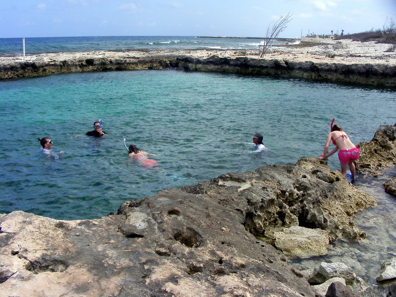 Rock Climbing Photo: The island has excellent snorkeling with clear wat...