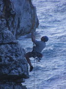 Rock Climbing Photo: Hangdogging Chicken of the Sea.