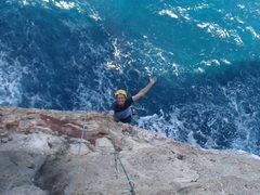 Rock Climbing Photo: Dean climbing Shiver Me Timbers.