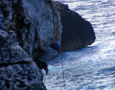 Rock Climbing Photo: Tony on Chicken of the Sea.