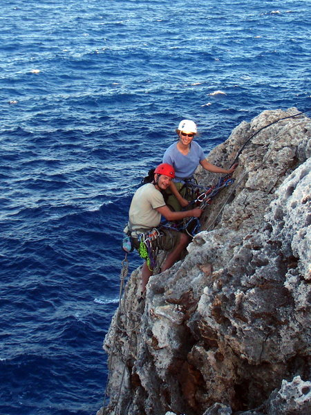 Rock Climbing Photo: Amy and Simon at the summit anchors of What's the ...