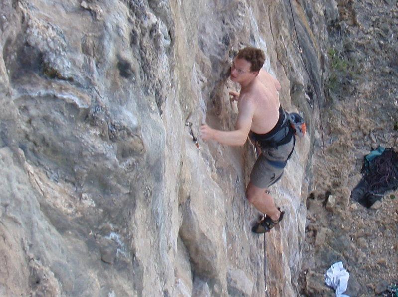 Rock Climbing Photo: Tony on Dixon's Delight.