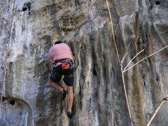 Rock Climbing Photo: Bill on the beautiful flowstone of Out of Africa.