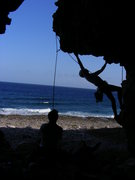Rock Climbing Photo: Series of Mark moving through Going' to Cayman wit...