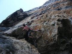 Rock Climbing Photo: Tony on Orange Fantasea.
