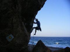 Rock Climbing Photo: Mark on L' Orangerie.