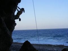 Rock Climbing Photo: Emma climbing L' Orangerie.
