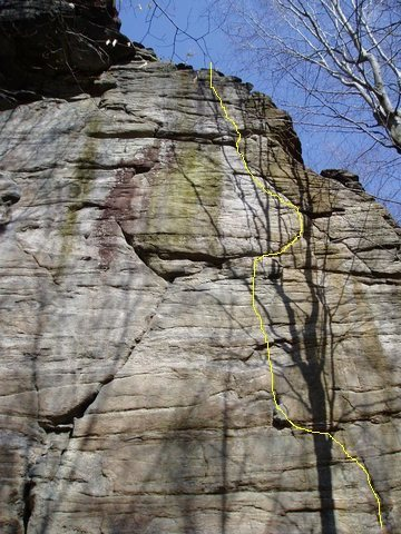 Rock Climbing Photo: Follow the yellow route.