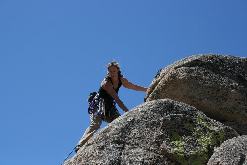Rock Climbing Photo: Noelle getting to the anchors on Kindergarden Cop ...