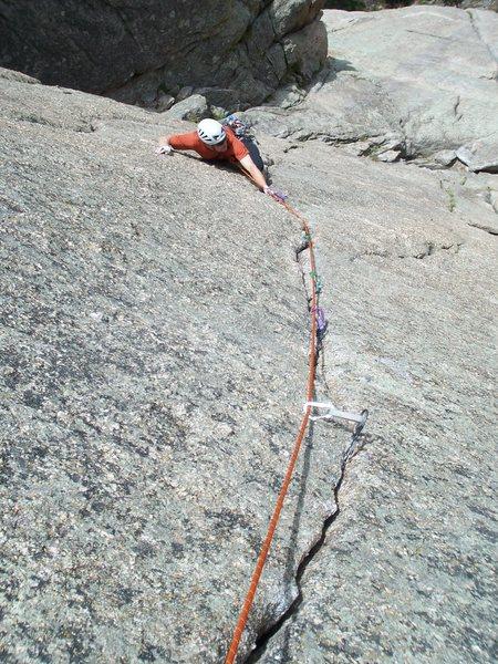 Rock Climbing Photo: Dean enjoying his Cheap Date....
