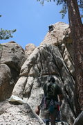 Rock Climbing Photo: Agina on Step Child 5.8 with Albert on belay.