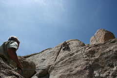 Rock Climbing Photo: Noelle on the upper wall of a 5.10 don't know the ...