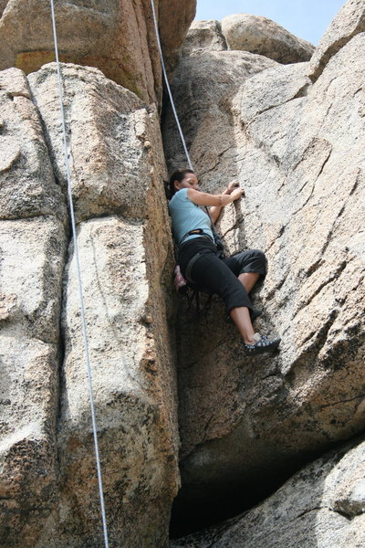 Rock Climbing Photo: Agina on Green Eggs and Ham 5.7