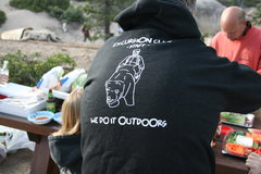 Rock Climbing Photo: Kevin was proud to show off his new sweatshirt fro...