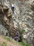 Rock Climbing Photo: Jones feelin' grouchy