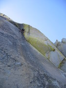 Planet Waves, 5.11    A masterpiece of stemming & liebacking on the East face of the Warlock.