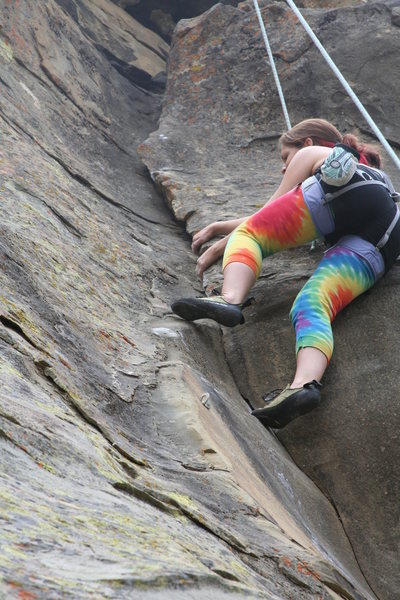 Gloria G. of LA exiting the dihedral of Exilis Dihedral