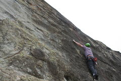 Rock Climbing Photo: Rob Chaney of Ventura just before the crux of Mamm...
