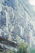 Rock Climbing Photo: A climber takes a rest before the crux moves on Sa...