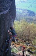 Rock Climbing Photo: Robin off Strapiombante