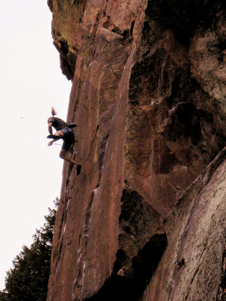 Rock Climbing Photo: Taking the whip on Evictor!