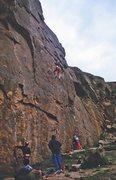 Rock Climbing Photo: Taking a fall on Wall Street Crash, 5.13a.   The g...