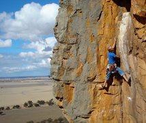 Rock Climbing Photo: Josh on Scorpion Corner